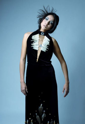 'Native Princess' costume by Laüra Hollick. Model Maeghen Gibson. Photo by Melanie Gillis