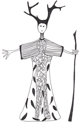 Laüra Hollick's inner being Soul Art costume sketch
