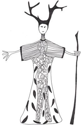 Laüra Hollick's inner being Soul Art costume sketch