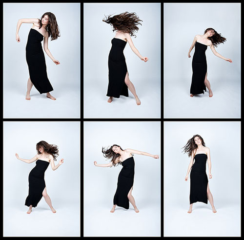 Laüra Hollick dancing. Photo by Kevin Thom. Hair/Makeup by Sue Upton.